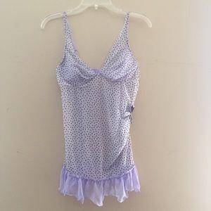 Victoria's Secret Purple Polka Dot Lingerie Slip